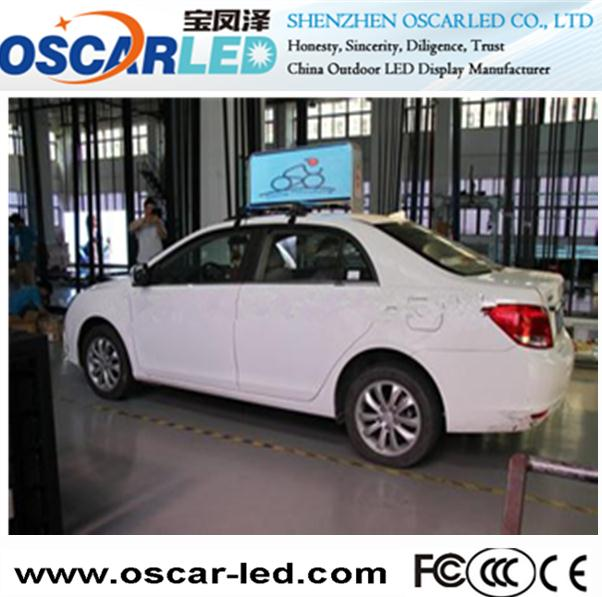 Taxi Top outdoor hd video led medical equipment screen music display in Shenzhen Oscarled