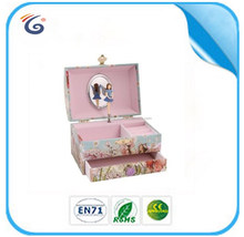 HOT SELLING cheap hand crank paper wrapped wooden music boxes
