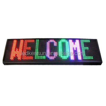 SMD RGB Full Color Programmable LED Sign Open Running Two Lines Scrolling Message Display Board