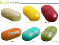 6 compartments mini pill box for Capsule Storage Container Case