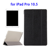 New Arrival Silk Texture Horizontal Flip Leather Case for iPad Pro 10.5 with Three-folding Holder