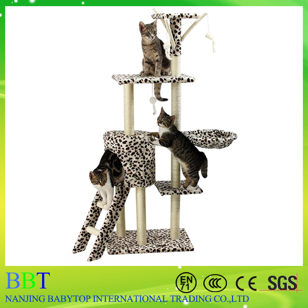 Cheap Comfortable Sisal Hemp Cat Scratching Tree/Tree House