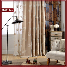 High quality woven 100 % Polyester macrame curtain fabric with cutwork embroidery
