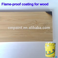 Wood building Wood door fireproof coating