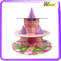 Party Cardboard Cupcake Stand with 3 Tiers and Applicable to Mundo Cupcakes or Other Cupcake Brands