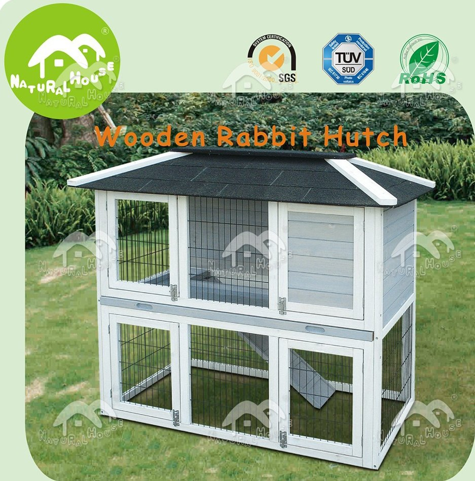 Handmade outdoor wholesale rabbit hutch, rabbit house for sale