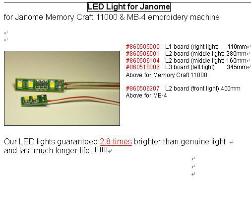 LED Light for Janome
