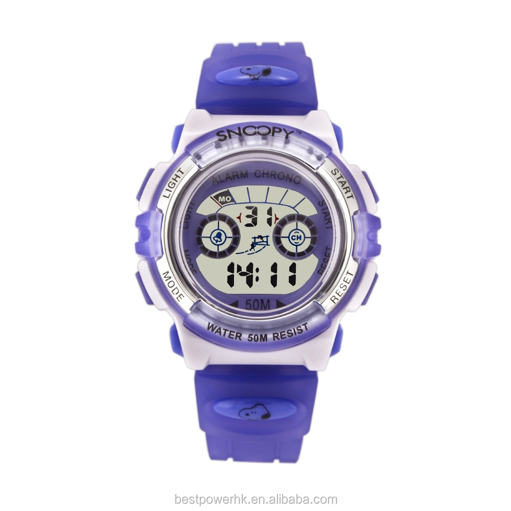 popular style digital plastic lcd watches