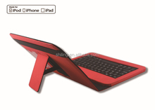Factory Shortcut function hot selling ABS Leather bluetooth keyboard for ipad new