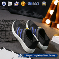High quality canvas sport shoes men running sneakers china factory