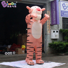 inflatable tiger with bunny ears led light inflatable Easter egg for indoor decoration
