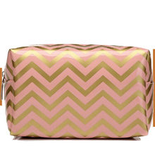 New Polish Wave Leather Cosmetic Storage Bag Ladies Travel Makeup Toiletry bag