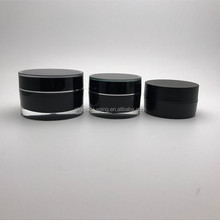 Aike packaging black color hair cosmetic cream container 50ml 60ml 2oz acrylic jar plastic 50ml jar