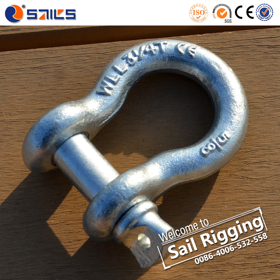 Hot Dipped Galvanized Chain Shackle Rigging Hardware