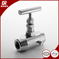 1/2NPT Female Thread Gas and Oil Needle Valve 10000PSI SS316