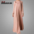 Muslim Round Neck Long Dress Cheap Hot Sell Islamic Design Kaftan Dresses Long Sleeve Dubai Abaya