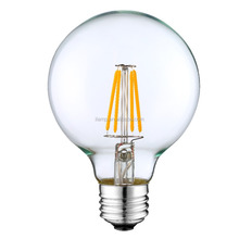 360 Degree 2w/4W /6w/8w COB Global-Shaped CE RoHS Certificates Compliant LED Filament Lamp g80