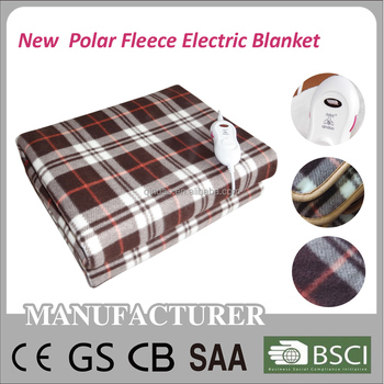 2016 New Printing Polar Fleece Electric Blanket