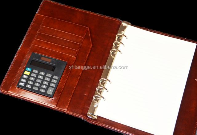 shanghai business notebook agenda custom notebook with calculator