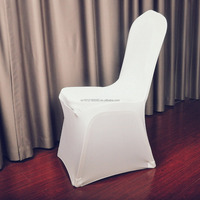 160gsm smooth WHITE spandex stretch garden chair covers.