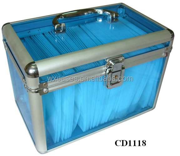 160 CD disks aluminum CD DVD storage case