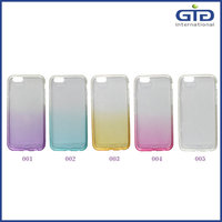 [NP-2669] Gradient Color Soft TPU Cover Phone Case with Diamond on Frame for iPhone 6 6S