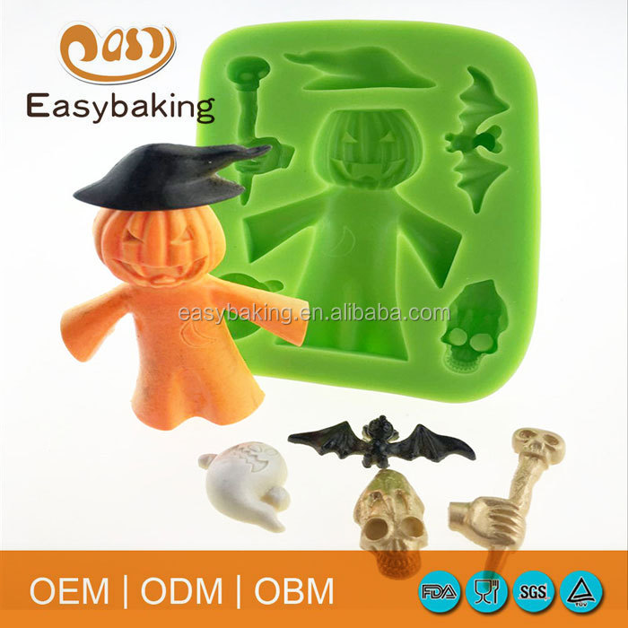 Halloween Festival Pumpkin Fimo Polymer Clay For Gypsum Silicone Molds