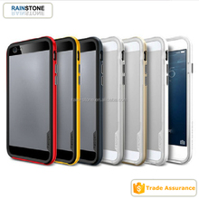 2015 Colorful Hybrid Combo Silicone Bumper Case for iPhone 5S 2 in 1 Case