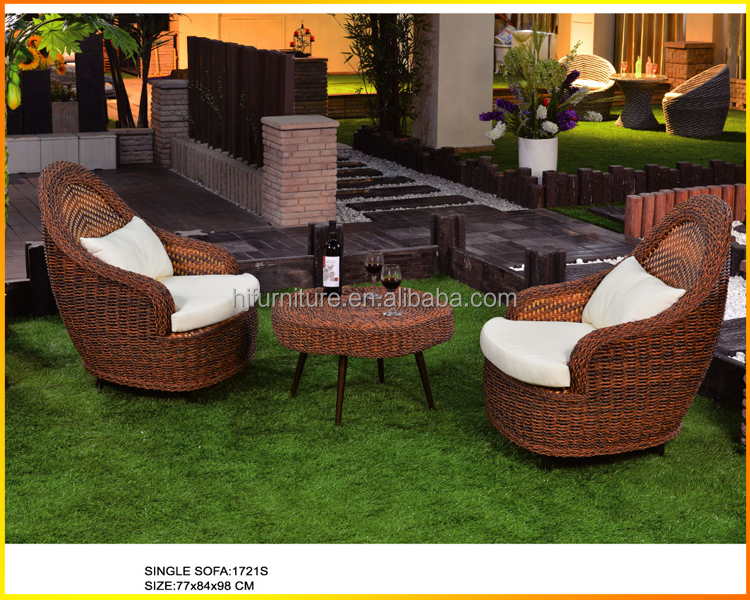 rattan sofa Garden outdoor furniture with new wicker and desigh Antique restaurant sofa