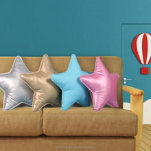 Custom-made Leather Star Shaped Pillow PP Cotton High Quality Star Office Pillow Cushion Sleeping Pillow Leather Toys