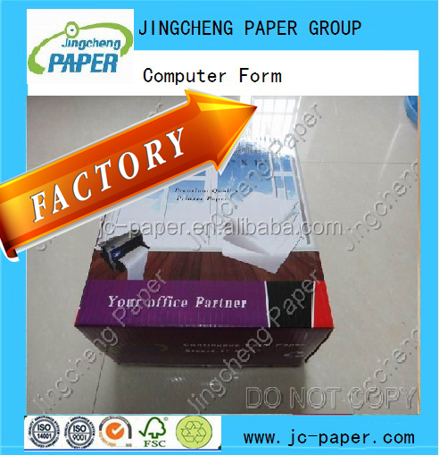 continuous computer printing paper 241mm 381mm