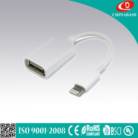 Type-C cable to usb 3.0 A female short otg cable for charging and data transfer