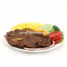 Decorative plastic Grilled beef steak/ fake Steak model for display
