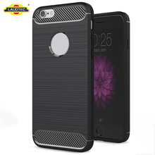 For iphone 6 6 plus Case, Carbon Fiber Brushed TPU Cover for iphone 6 6 plus