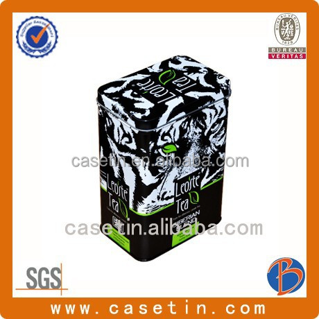 China made good quality and popular design of wide mouth tea can