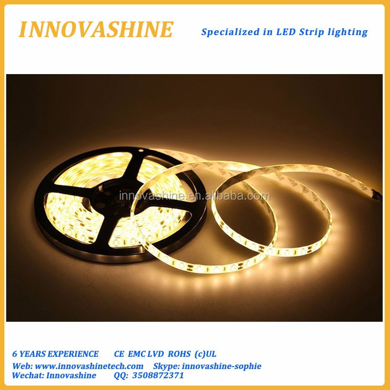 Warm white DC12V ip20 ip65 tasmy led tape 8mm pcb 3528 led strip light for kitchen under cabinet