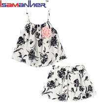 Hot sale kid garment set flower children clothing manufacturers china