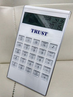 Electronic calulator white calendar/timer alarm voice key calculator calendar