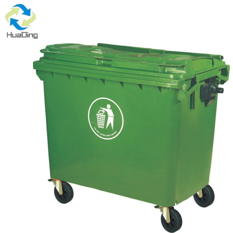 cheap large size plastic garbage trash bin