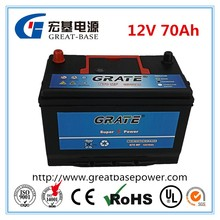 JIS standard sealed auto battery 65D31L-MF 12V 70Ah lead acid battery