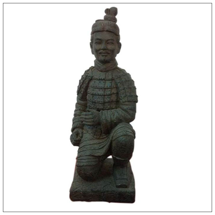 Home decor handmade craft pottery craft terracotta warriors Kneeling Archer