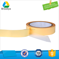 light yellow release paper liner double sided OPP tape for carpet fixing