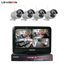 LS VISION 4Ch 960p Dvr Home Security System with Wifi Wireless outdoor Waterproof Camera China Supplier