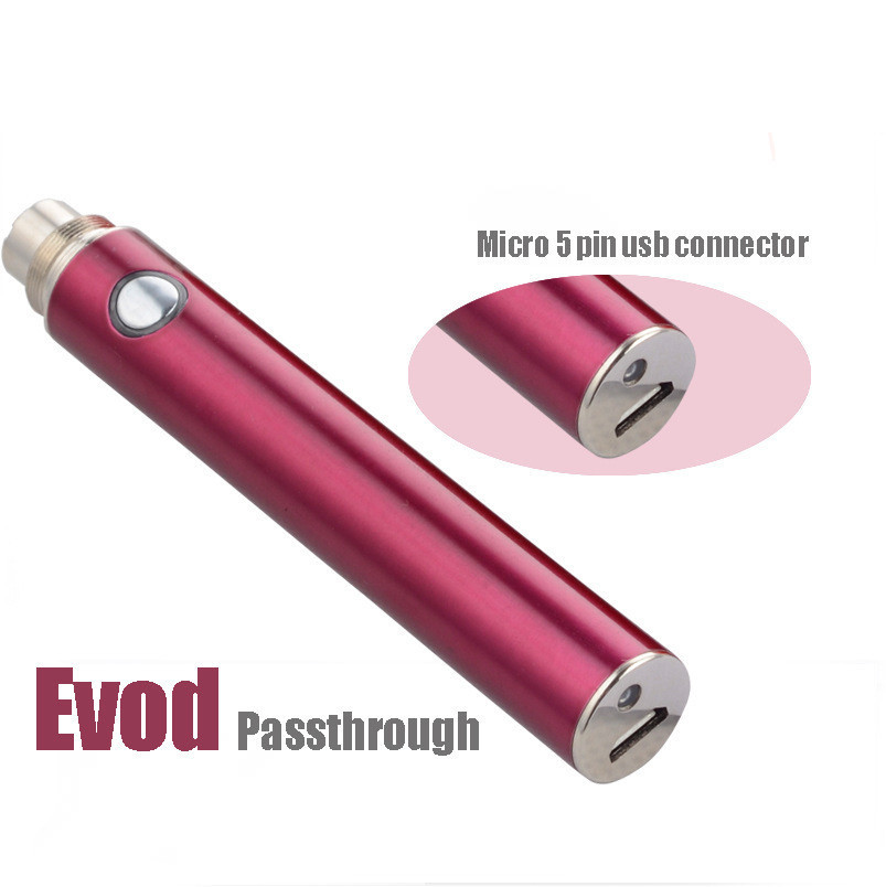 South Korea 2015 big vapor e cigarette 650mah/900mAh/1100mah evod bottom charge battery wholesale price