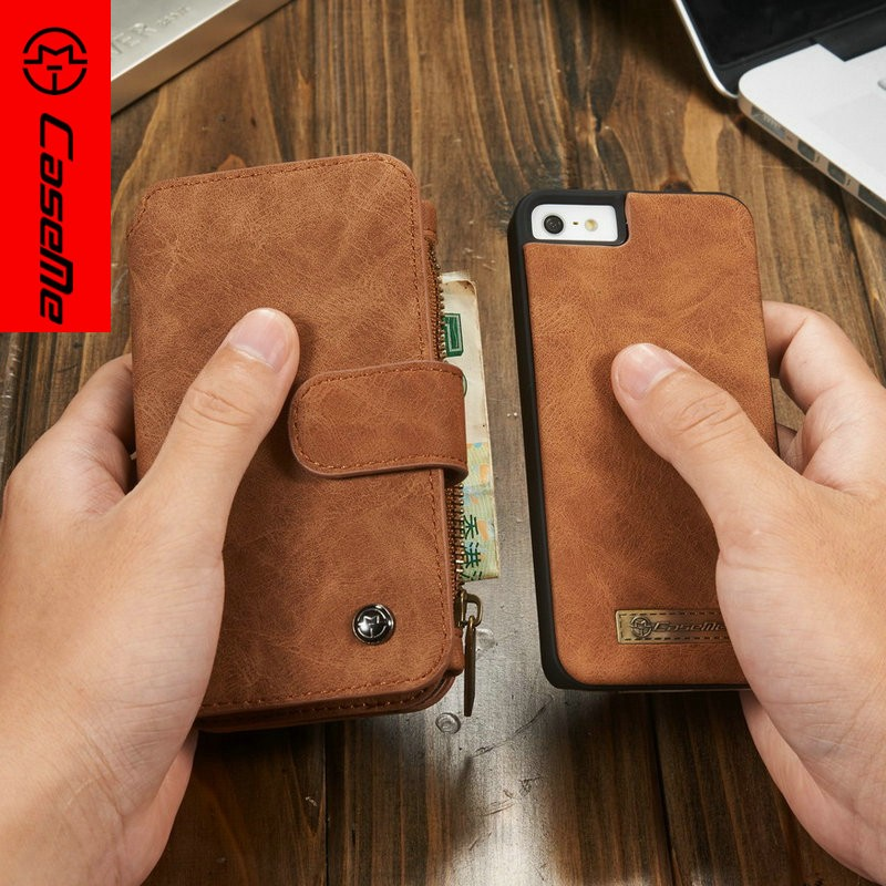 2016 New Products Hot Selling Case Cover For iphone 5/Stand Leather Cell Phone Cover Back Case With Card Slots For iPhone5 5s