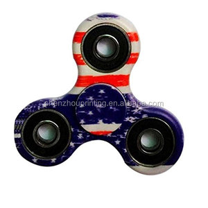 China low price cheap custom multi colors stress released fingertip gyro tri hand fidget spinner toy