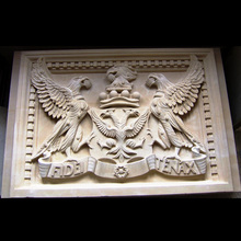 Professional factory carving stone eagle animal wall relief sculpture