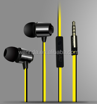 Metal Earphone with Microphone Earphones China For iphone earphone (Wennda L8)