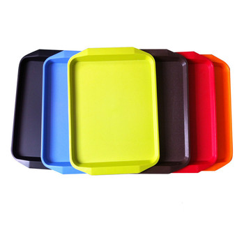 Hotel restaurant Plastic rectangle round shape food plates serving tray