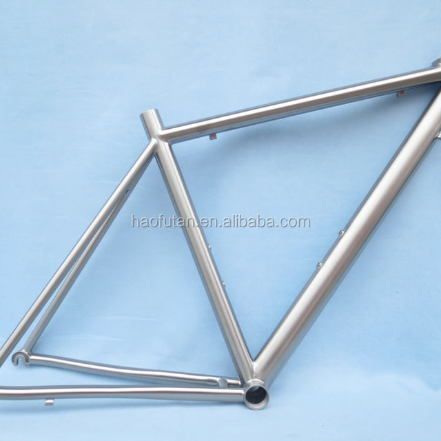Best sale titanium replaceable dropout external headtube road bike frame DI2 external cable routing frame